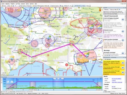 Vfr Weather Map.Skydemon Vfr Flight Planning Features